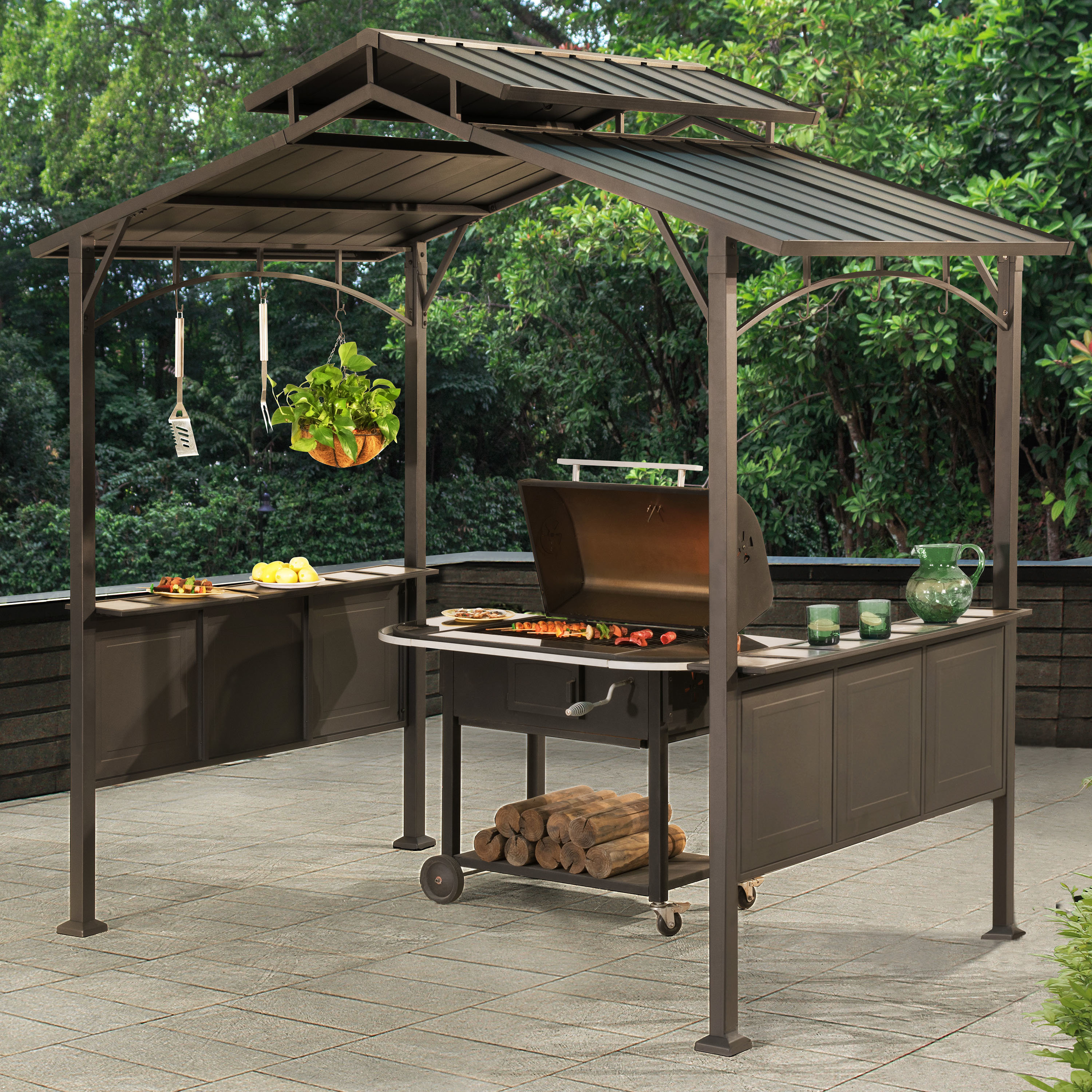 outdoor grill gazebo  82