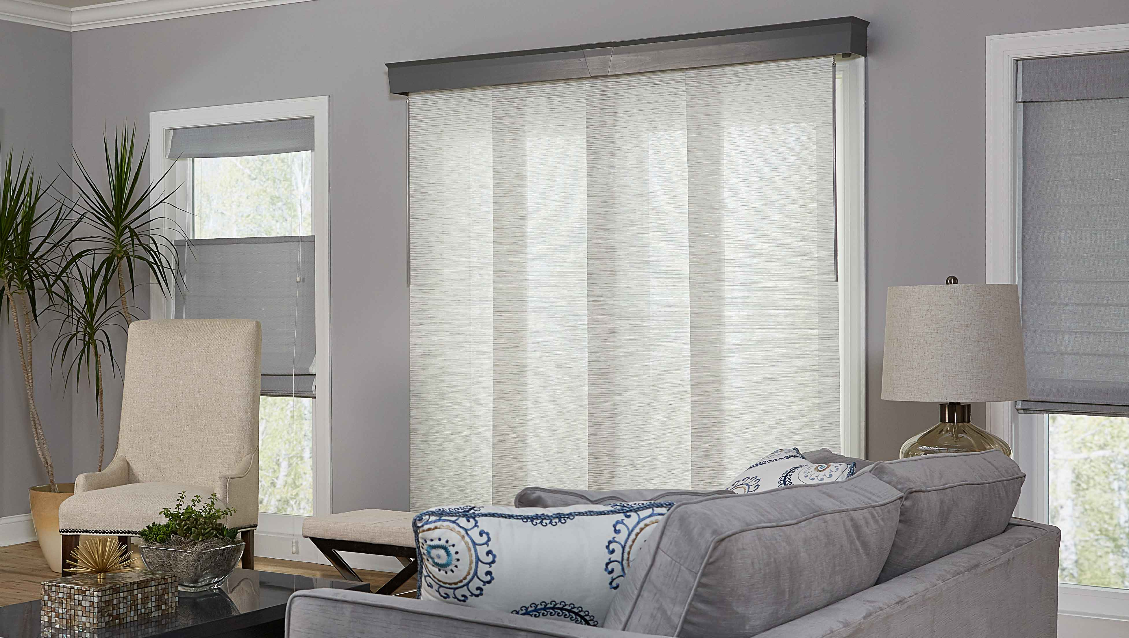 How to fix panel blinds