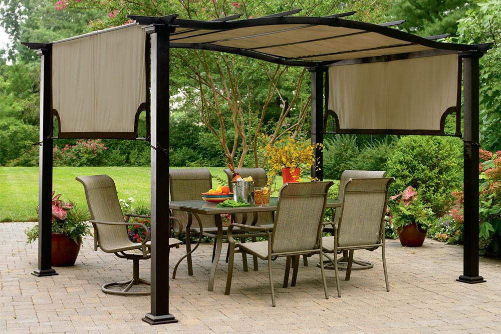 Convenient and modular designable pergola with canopy