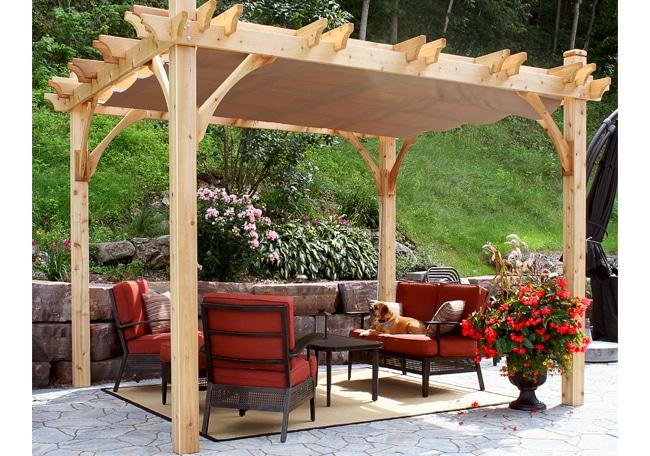 pergola with canopy 90