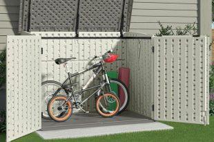 Plastic bike shed  45