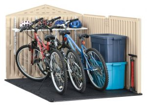 Plastic bike shed  49