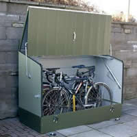Plastic bike shed  72