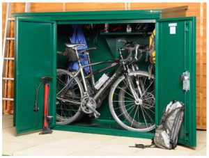 Plastic bike shed  81