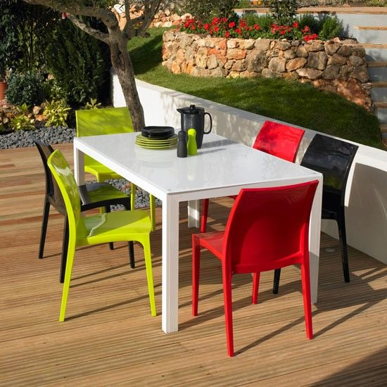 Stylish and convenient plastic outdoor furniture