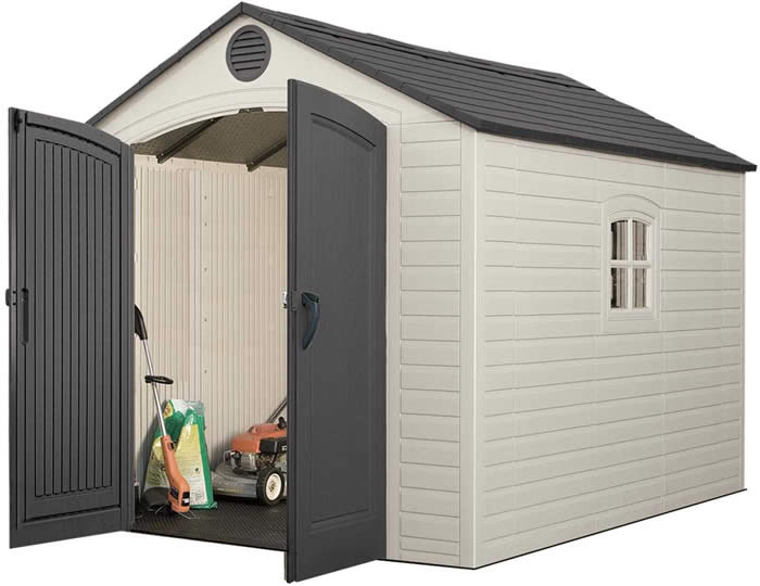 plastic storage shed  34