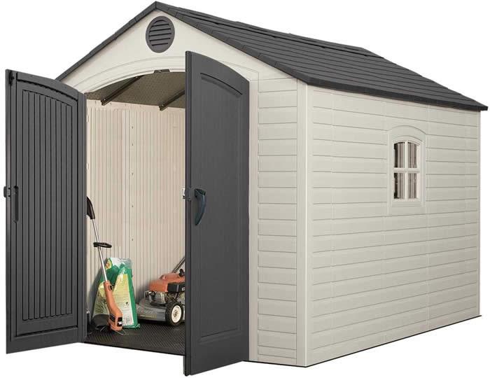 plastic storage shed  34