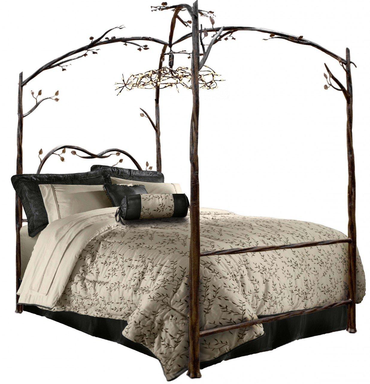 queen canopy bed  68