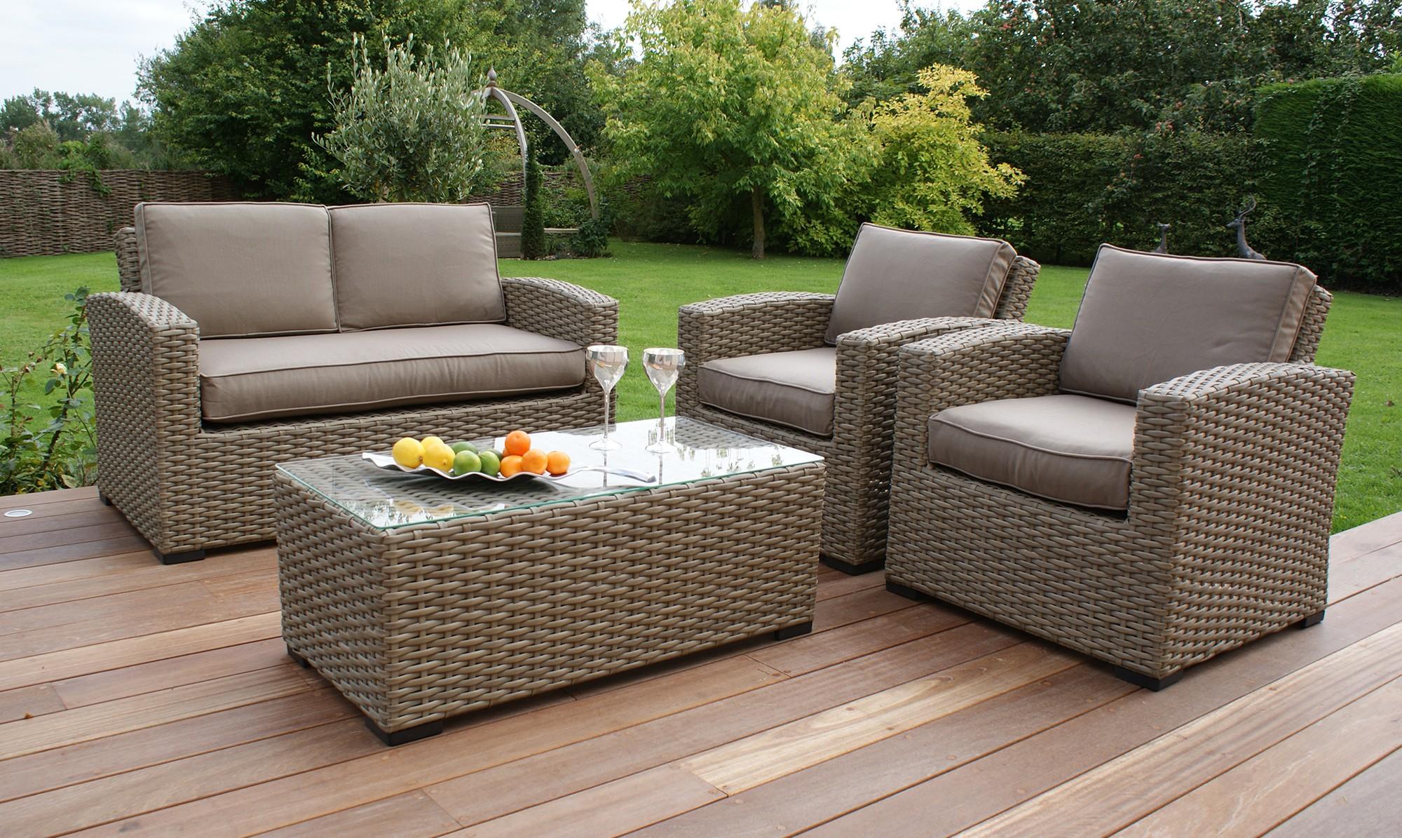 Rattan garden sofa sets  14