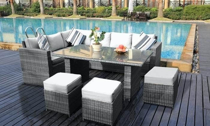 Rattan garden sofa sets  19