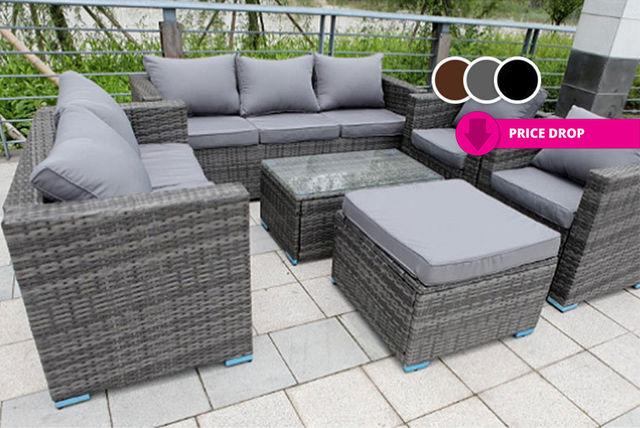 Rattan garden sofa sets  35