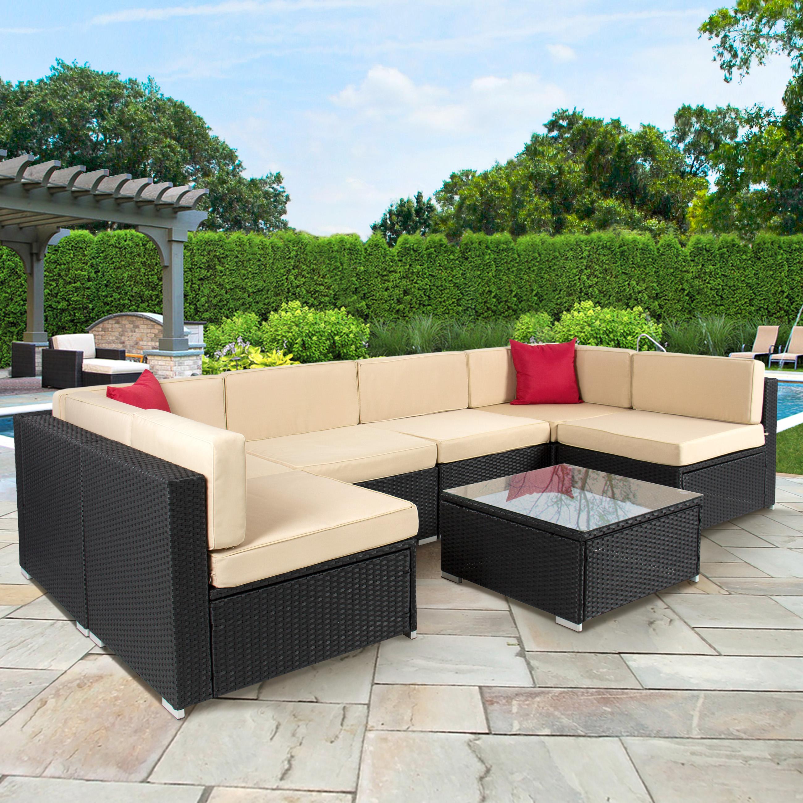 Rattan garden sofa sets for classy garden