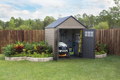 Use rubbermaid storage sheds to keep the necessary things
