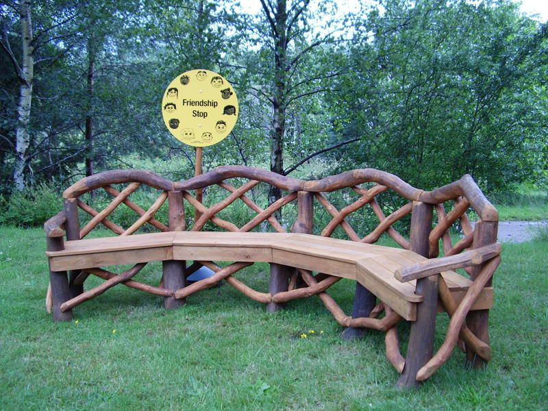 Rustic garden furniture  93