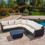 Décor your outdoors with sterling finishes of sectional patio furniture
