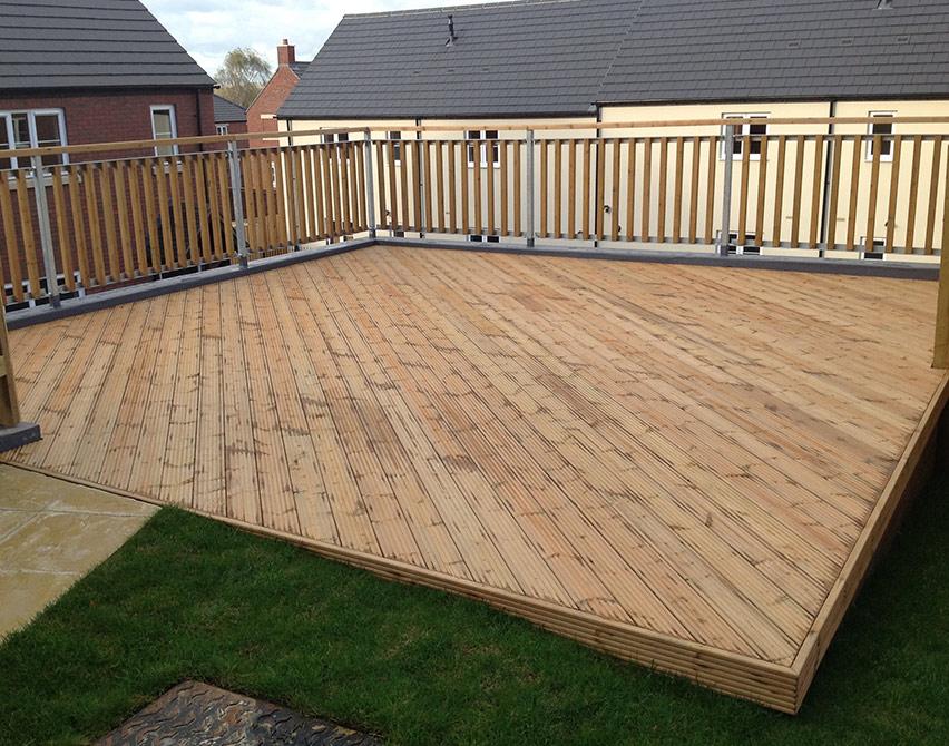 Taking care of timber decking