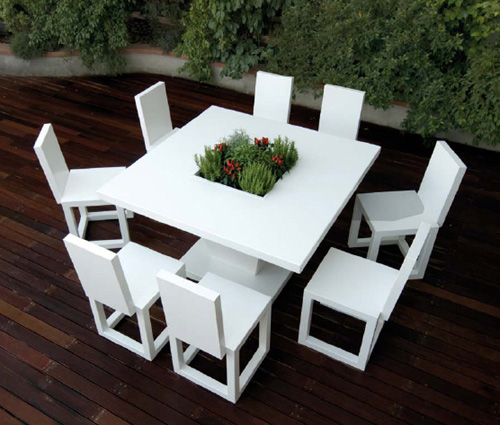 white outdoor furniture  18