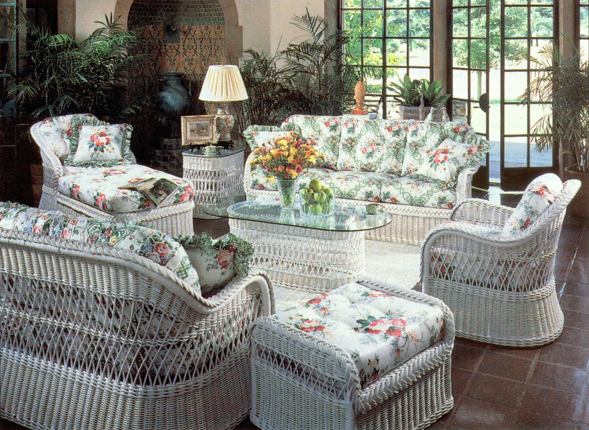 white wicker furniture  13