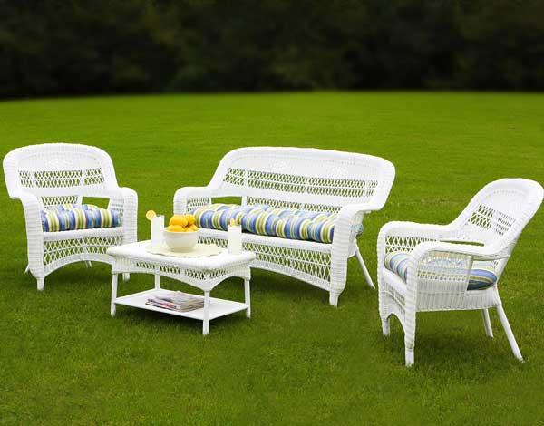 white wicker furniture  27