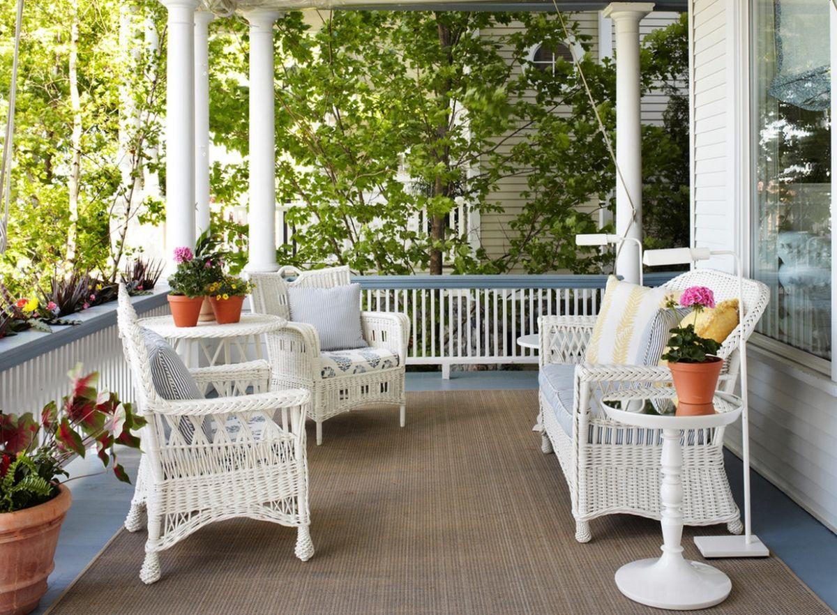 white wicker patio furniture  52