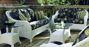 white wicker patio furniture  53
