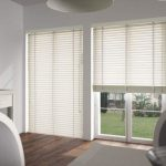 Use white wooden venetian blinds for perfect style