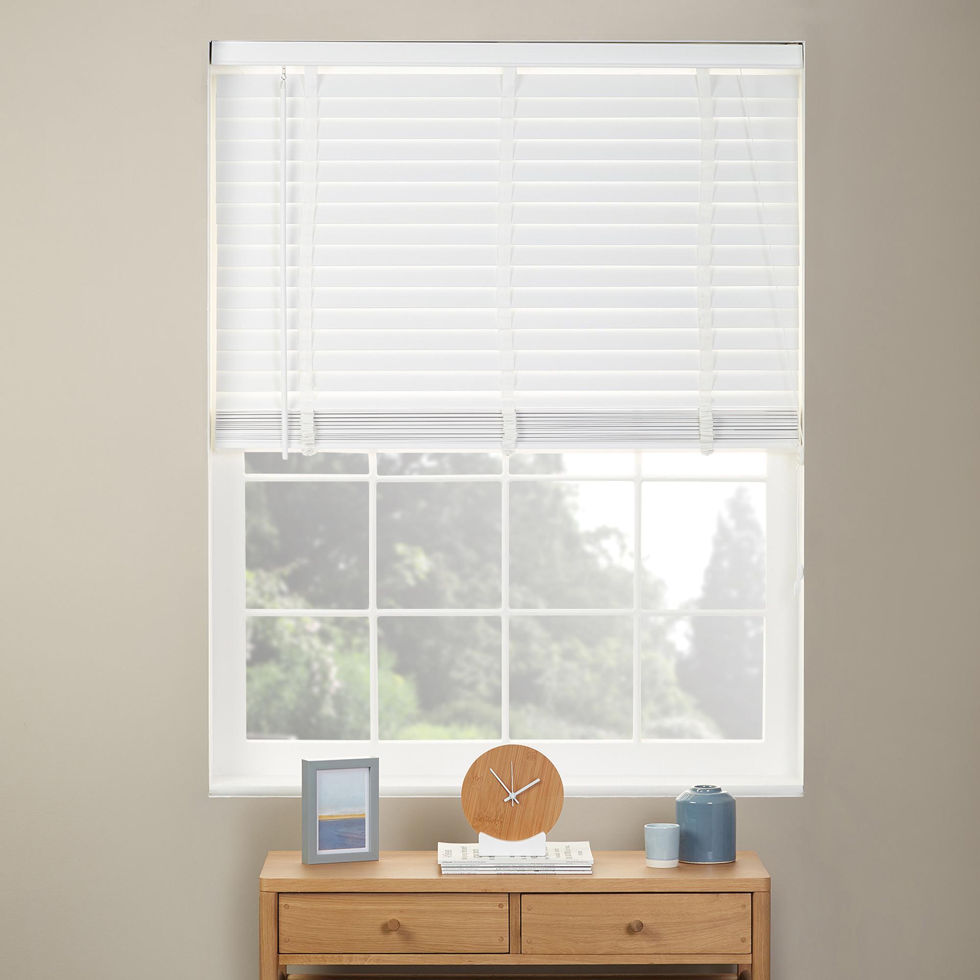 white wooden venetian blinds  42