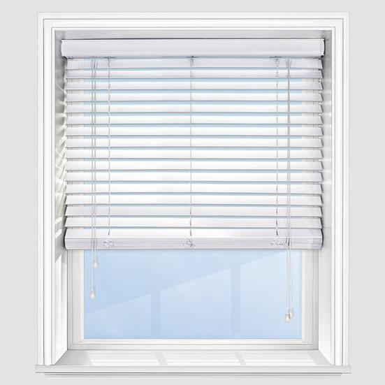 white wooden venetian blinds  98