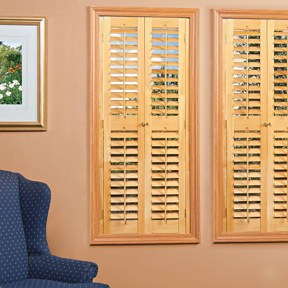 Stylish wood shutters for privacy and elegance