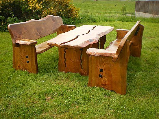 Wooden garden furniture  61