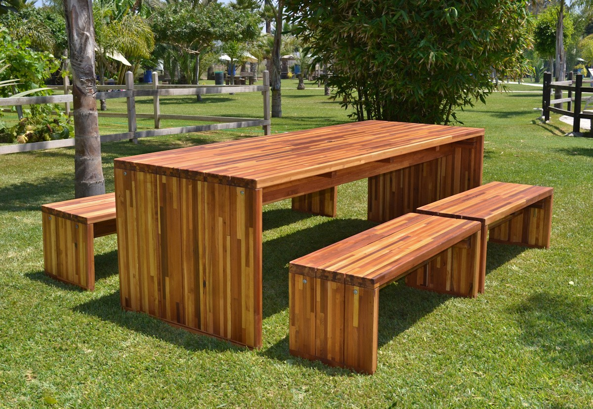 Wooden outdoor furniture 01