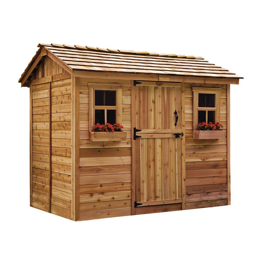 Wooden storage garden sheds  43