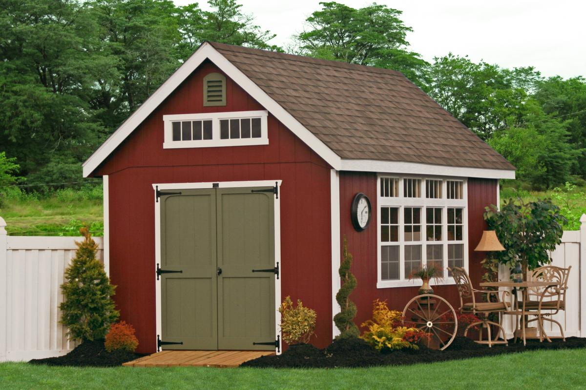 Wooden storage garden sheds , the perfect hiding spot for those messy garden equipment