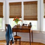 Enjoy the elegant woven wood shades