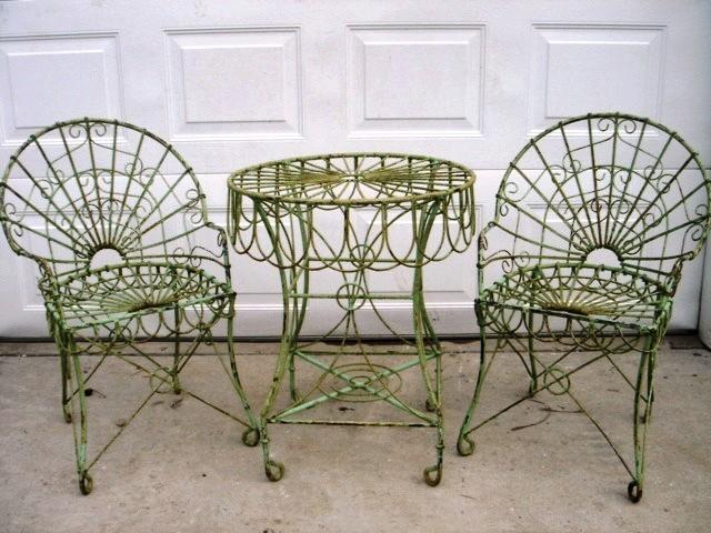 wrought garden iron furniture  74