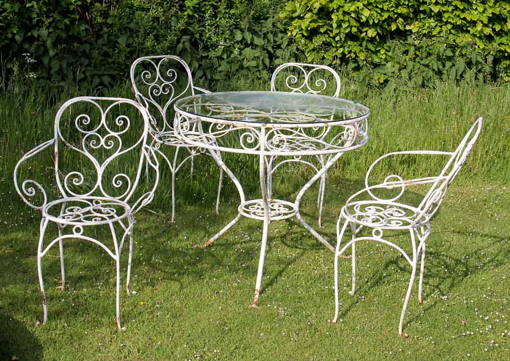 wrought garden iron furniture  89