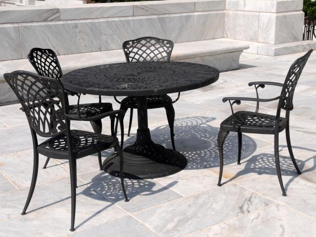 Wrought iron outdoor furniture  00