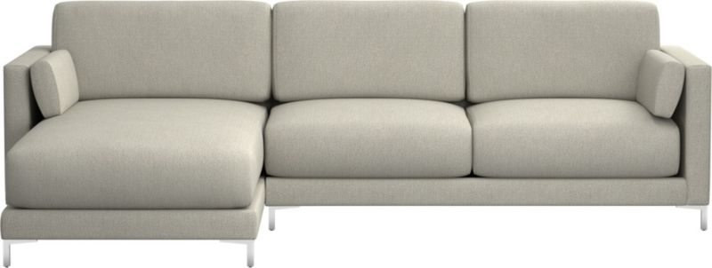 district stone 2-piece sectional sofa + Reviews | CB2