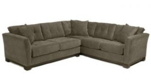 Furniture CLOSEOUT! Elliot Fabric Microfiber 2-Piece Sectional Sofa