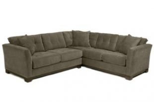 Furniture CLOSEOUT! Elliot Fabric Microfiber 2-Piece Sectional Sofa