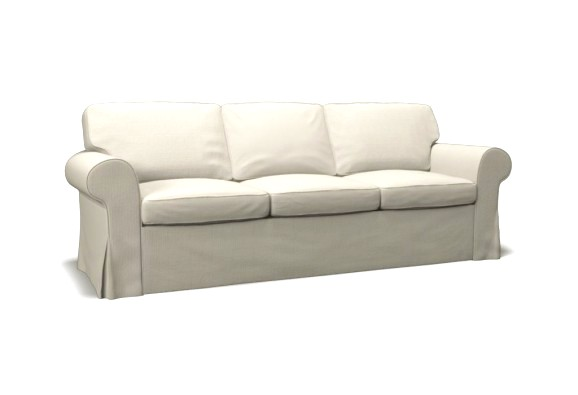 EKTORP Three-seat sofa bed cover - Event White by CoverCouch.com