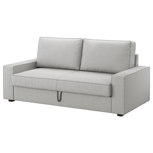 VILASUND/MARIEBY 3-seat sofa-bed orrsta light grey | IKEA Living Room