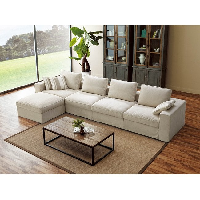 Shop Smoke 5-piece Sectional Sofa with Ottoman - Free Shipping Today