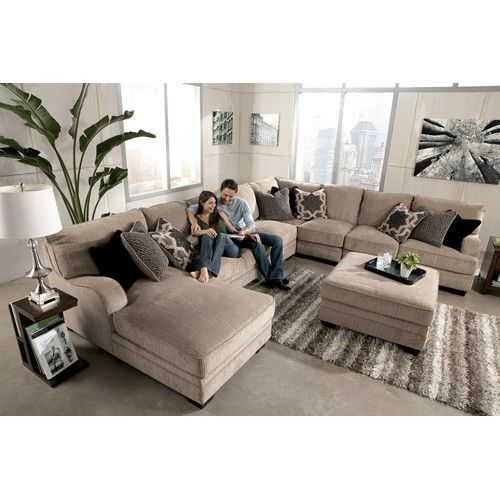 Signature Design by Ashley Katisha - Platinum 5-Piece Sectional Sofa