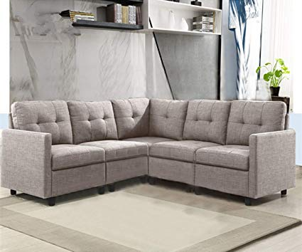Amazon.com: OuchTek 5-Piece Modular Sectional Sofas, Small Space