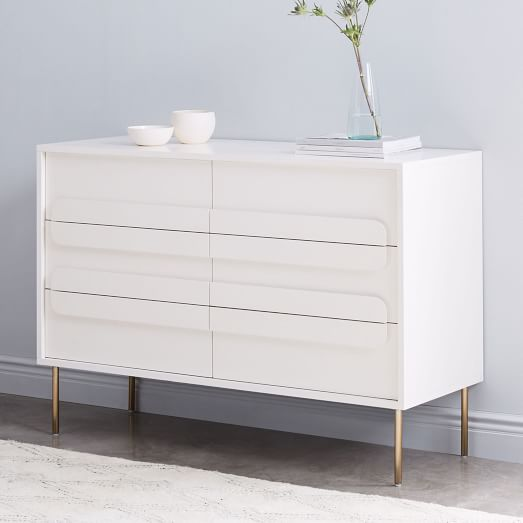 Gemini 6-Drawer Dresser - White Lacquer | west elm