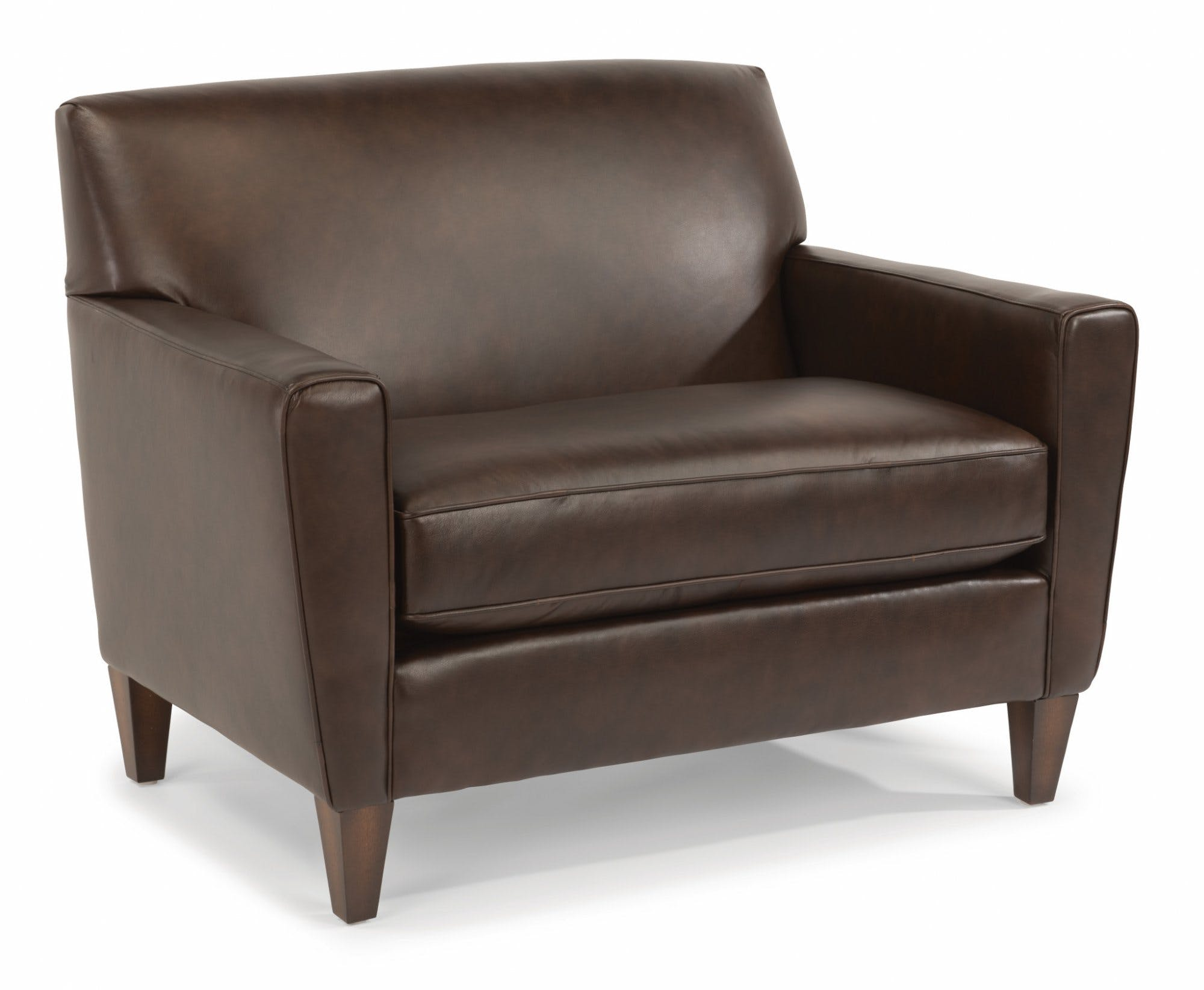 Flexsteel Living Room Leather Chair And A Half 3966-101 - Russell's