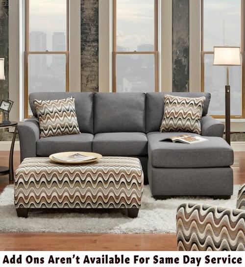 Affordable Furniture Cosmopolitan Grey Sectional Sofa 3900   Savvy