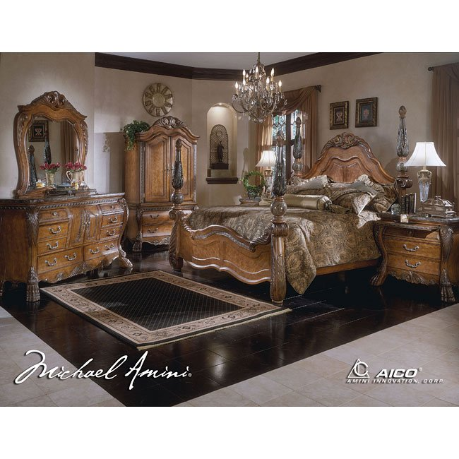 Eden Poster Bedroom Set Aico Furniture, 1 Reviews | Furniture Cart