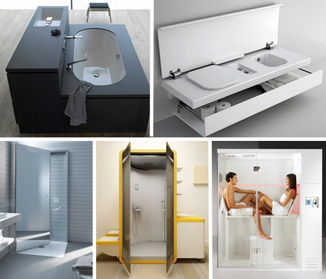 Small Space Design: 15 Fold-Up, All-In-One Bathrooms   Urbanist